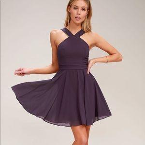 Lulu's Forevermore Skater Skirt Halter Dress